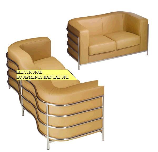 Sofa set 2 1 1 stainless steel pipe outer frame Steel frame sofa